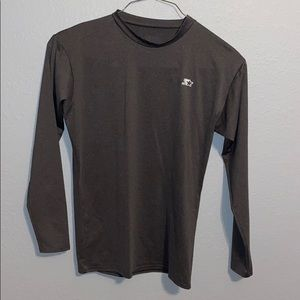 Gray Fitted Long Sleeve